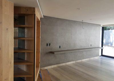 Proyectos Residenciales en Microcemento - Interior casa habitación